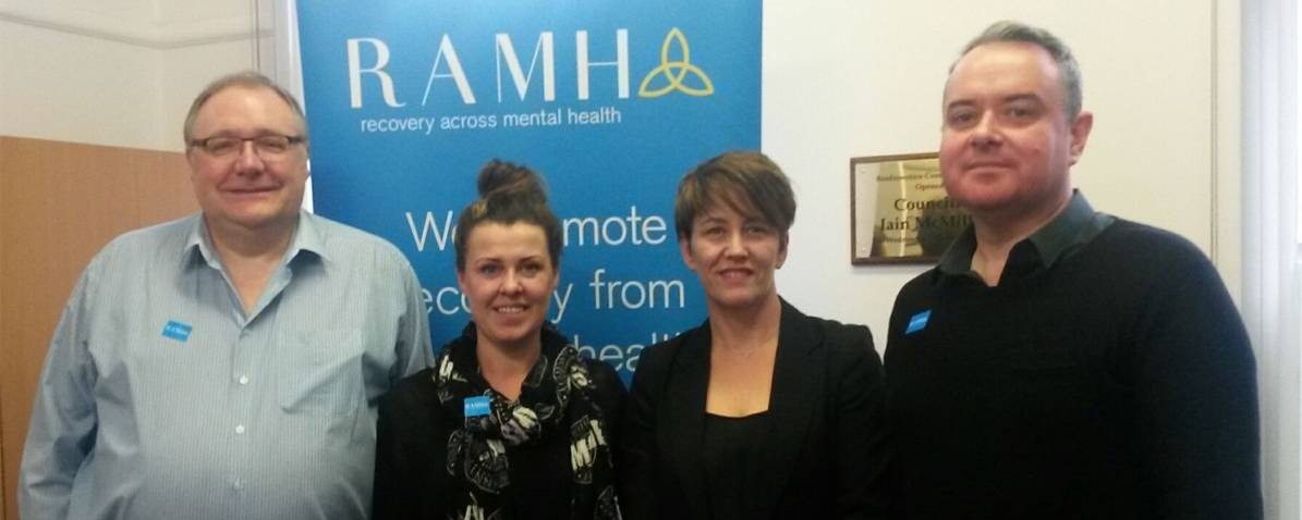 Mental health charity receives boost from Ross and Liddell